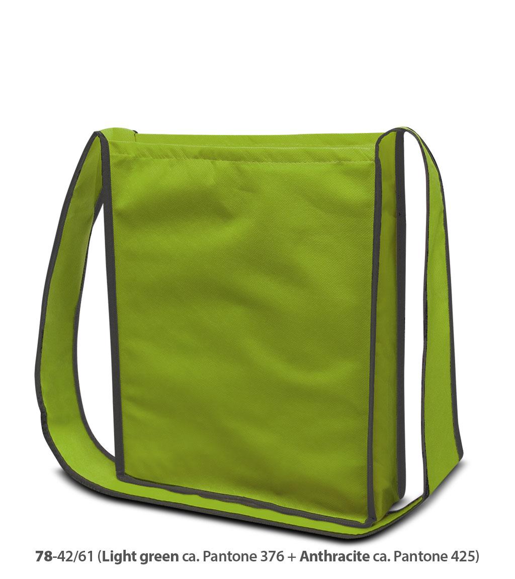 Non-Woven Tasche Bristol in hellgrün / dunkelgrau