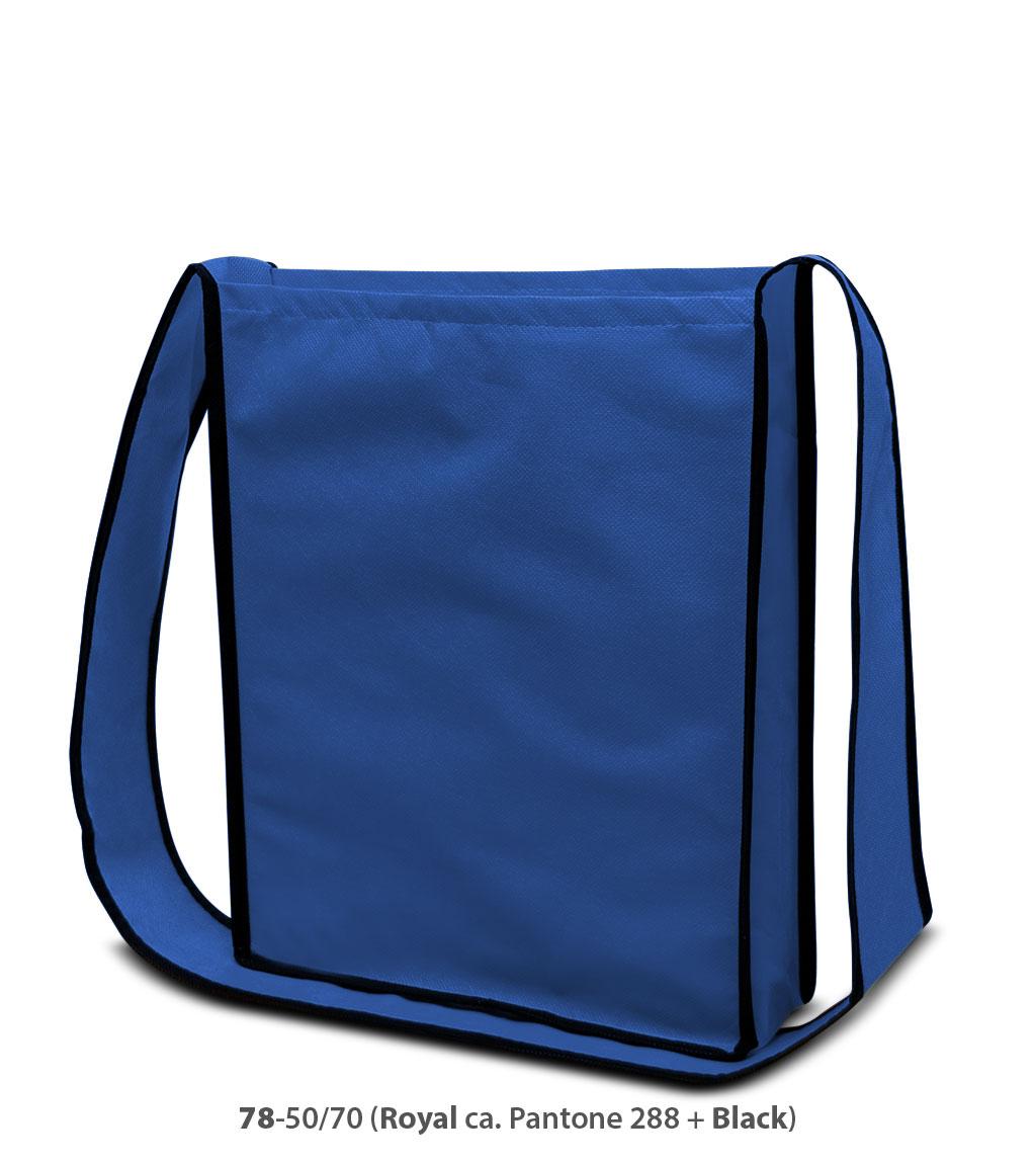 Non-Woven Tasche Bristol in blau / schwarz