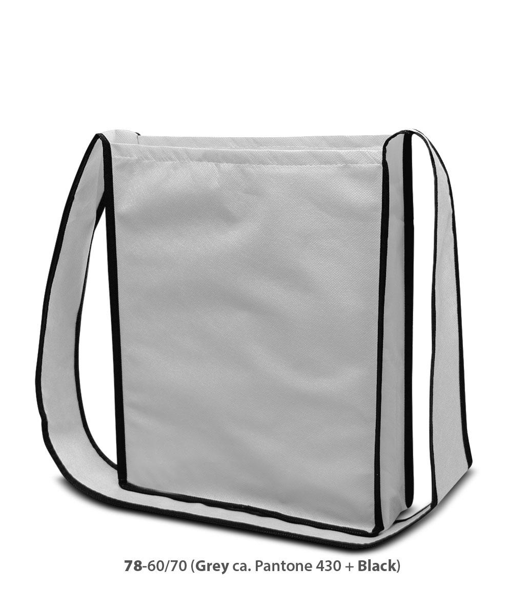 Non-Woven Tasche Bristol in grau / schwarz