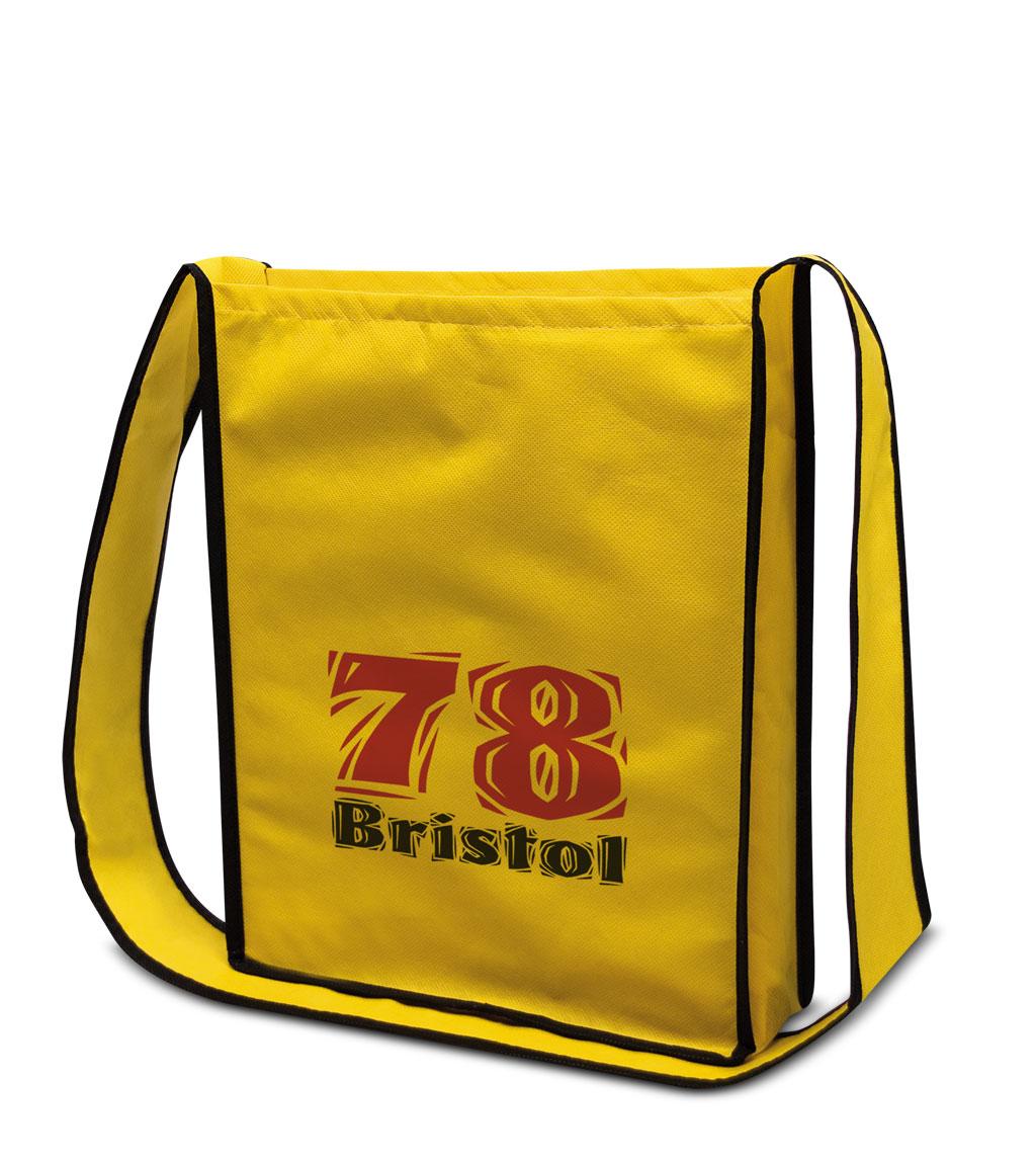 Non-woven Tasche Bristol in gelb/schwarz