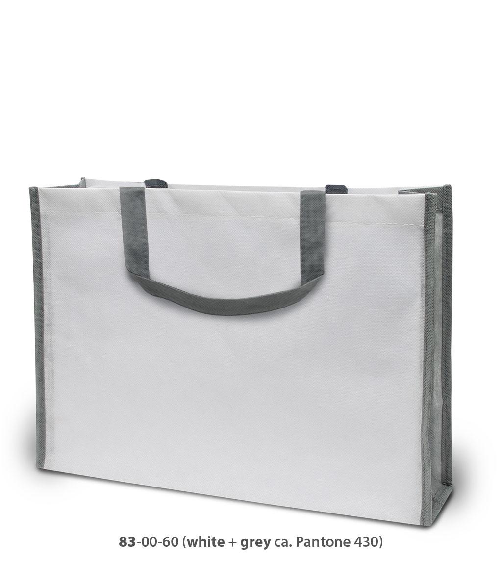 Non-Woven Tasche Bergen in weiß / grau