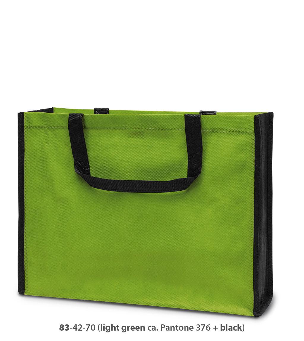 Non-Woven Tasche Bergen in grün / schwarz