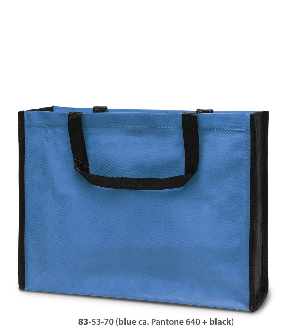 Non-Woven Tasche Bergen in blau / schwarz