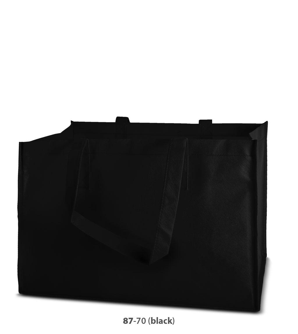Non-Woven Tasche Prato in schwarz