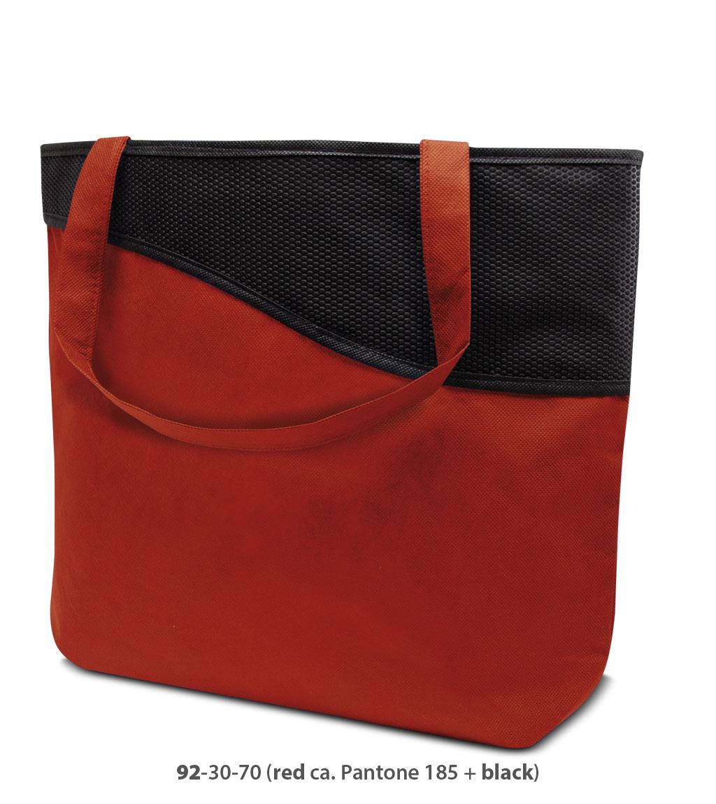 Non-Woven Tasche Lille in rot / schwarz