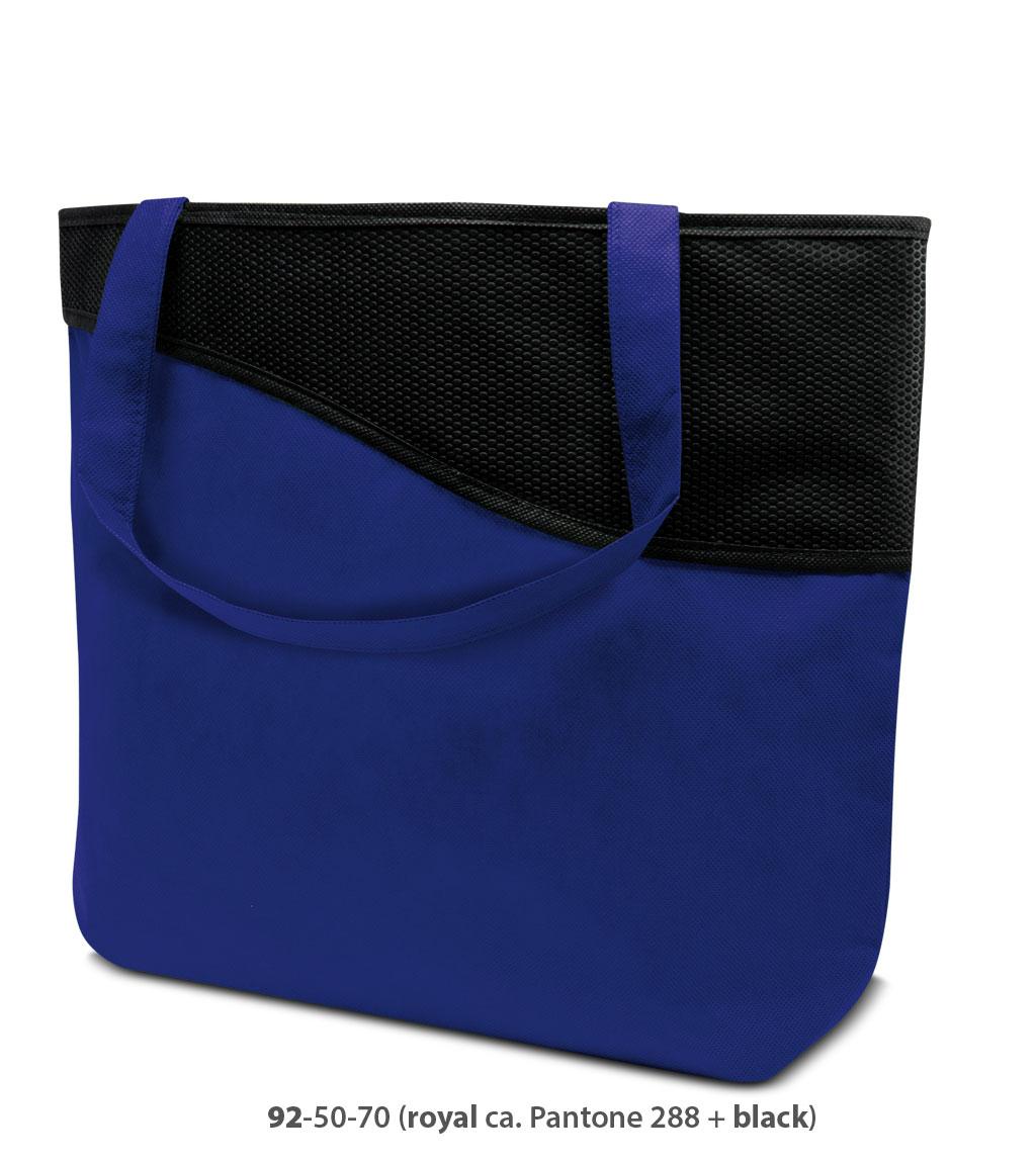 Non-Woven Tasche Lille in blau / schwarz
