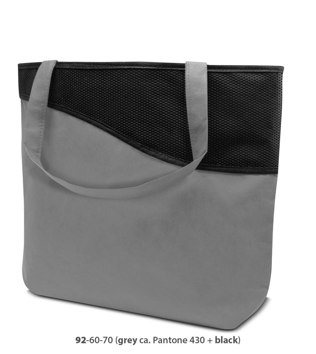 Non-Woven Tasche Lille in grau / schwarz
