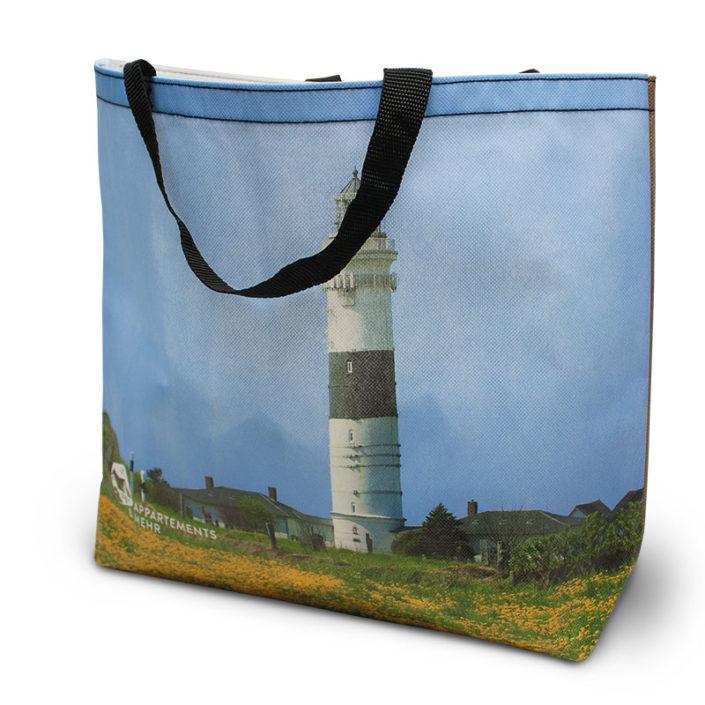 Non-Woven Tasche mit 4-farbigem Allover-Druck