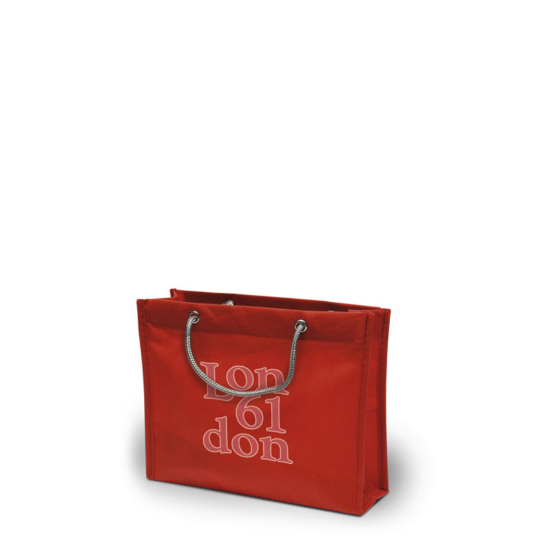 Non-Woven Tasche London in rot