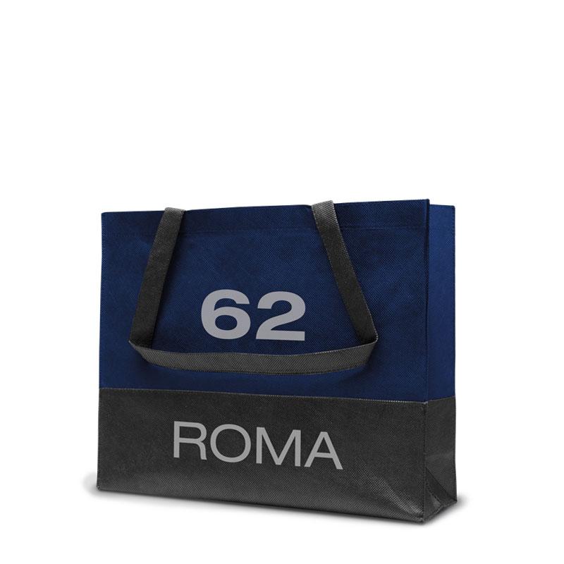 Non-Woven Tasche Roma in dunkelblau/grau