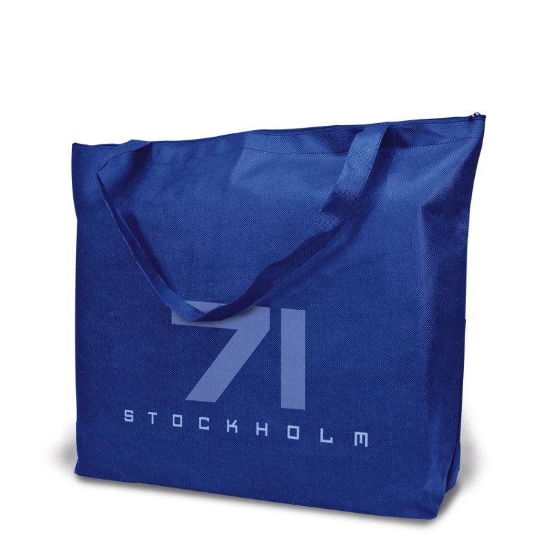 Non-Woven Tasche Stockholm in blau
