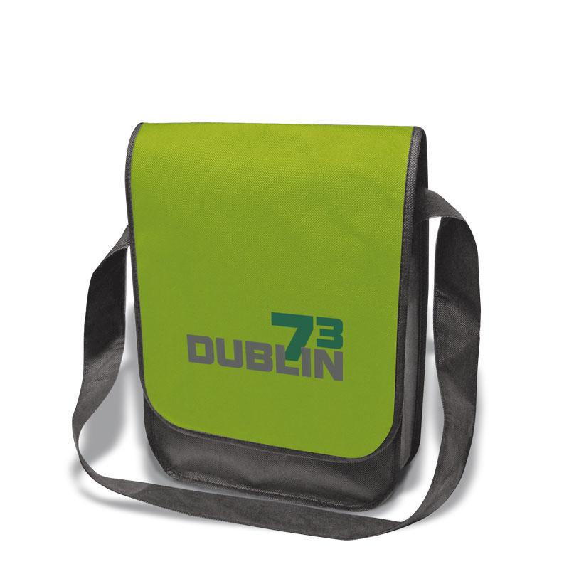 Non-Woven Tasche Dublin in grün/grau