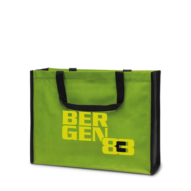 Non-Woven Tasche Bergen in grün/schwarz