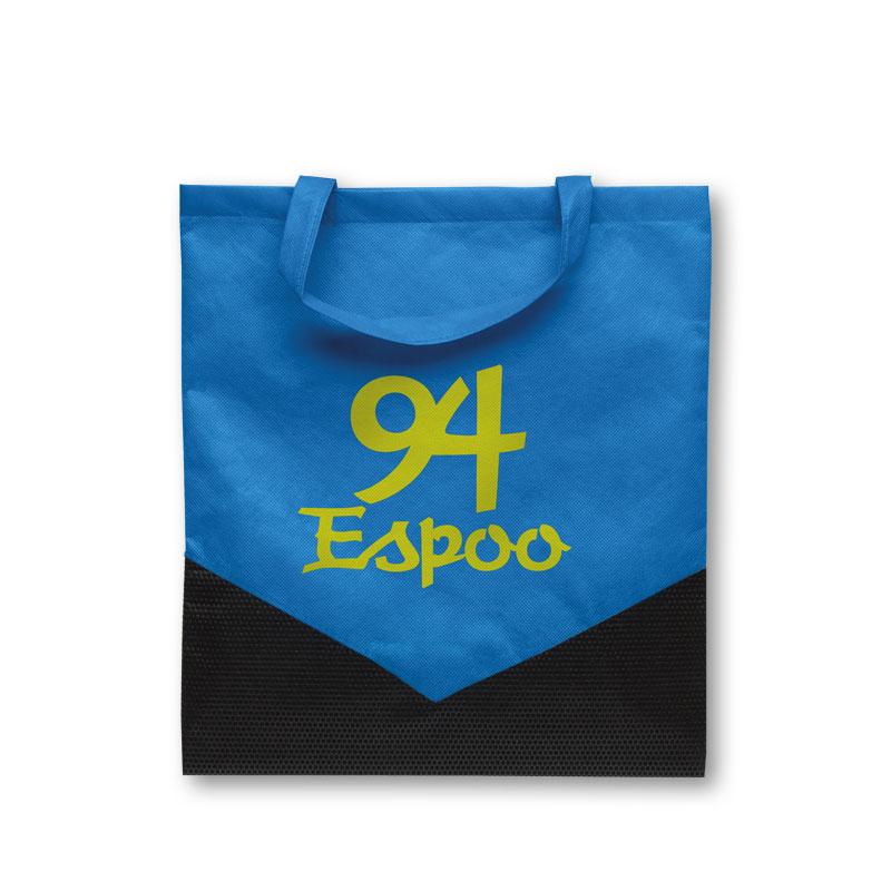 Non-Woven Tasche Espoo in blau/schwarz