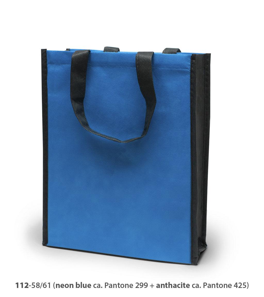 Non-Woven Tasche Oxford in blau / grau