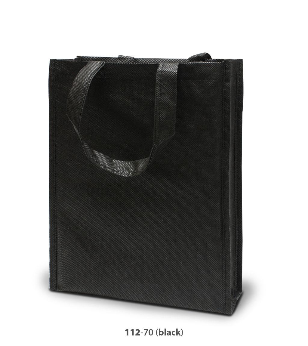 Non-Woven Tasche Oxford in schwarz