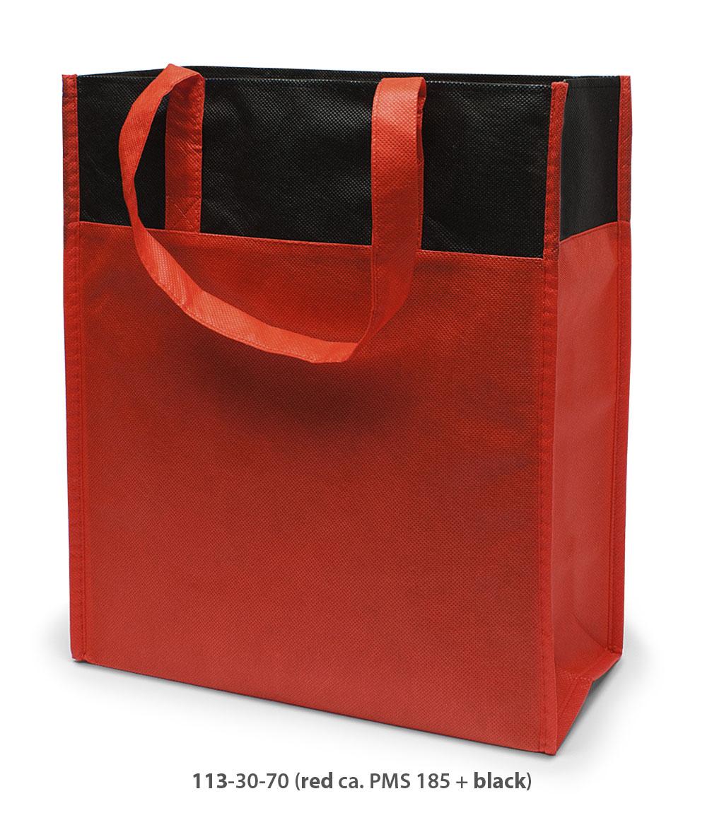 Non-Woven Tasche Brest in rot / schwarz