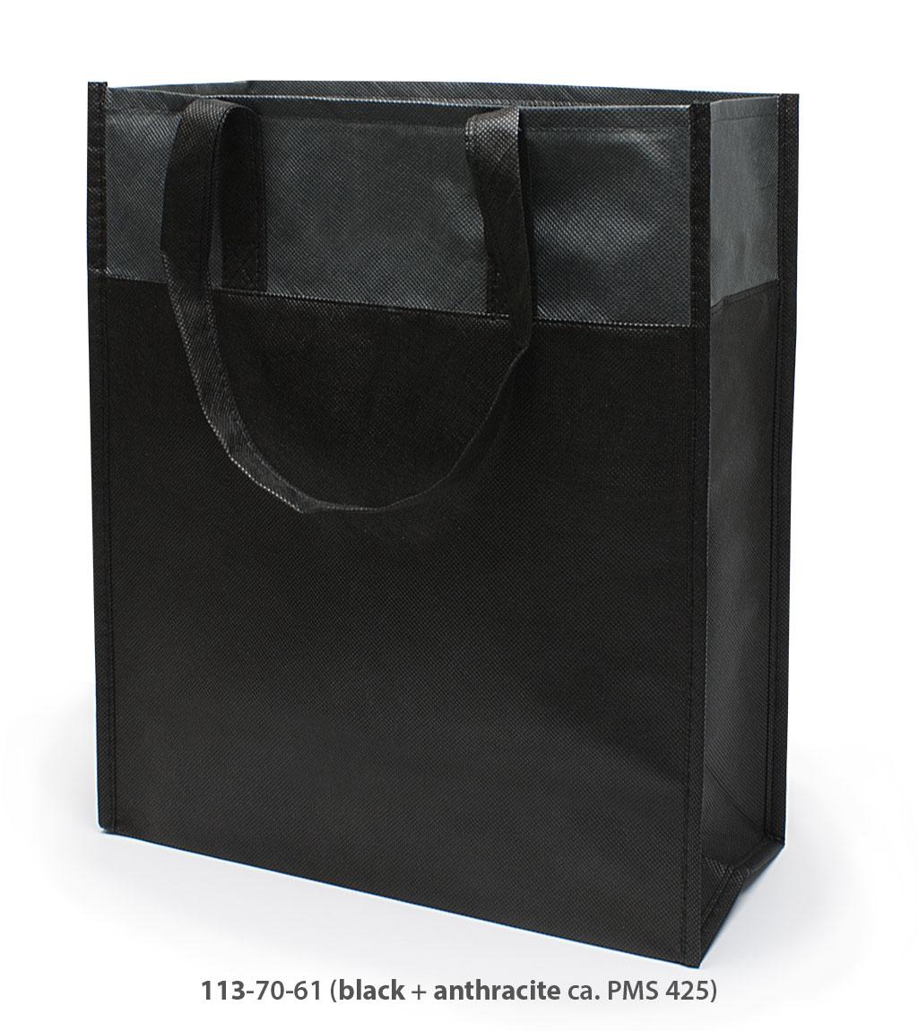 Non-Woven Tasche Brest in schwarz / dunkelgrau