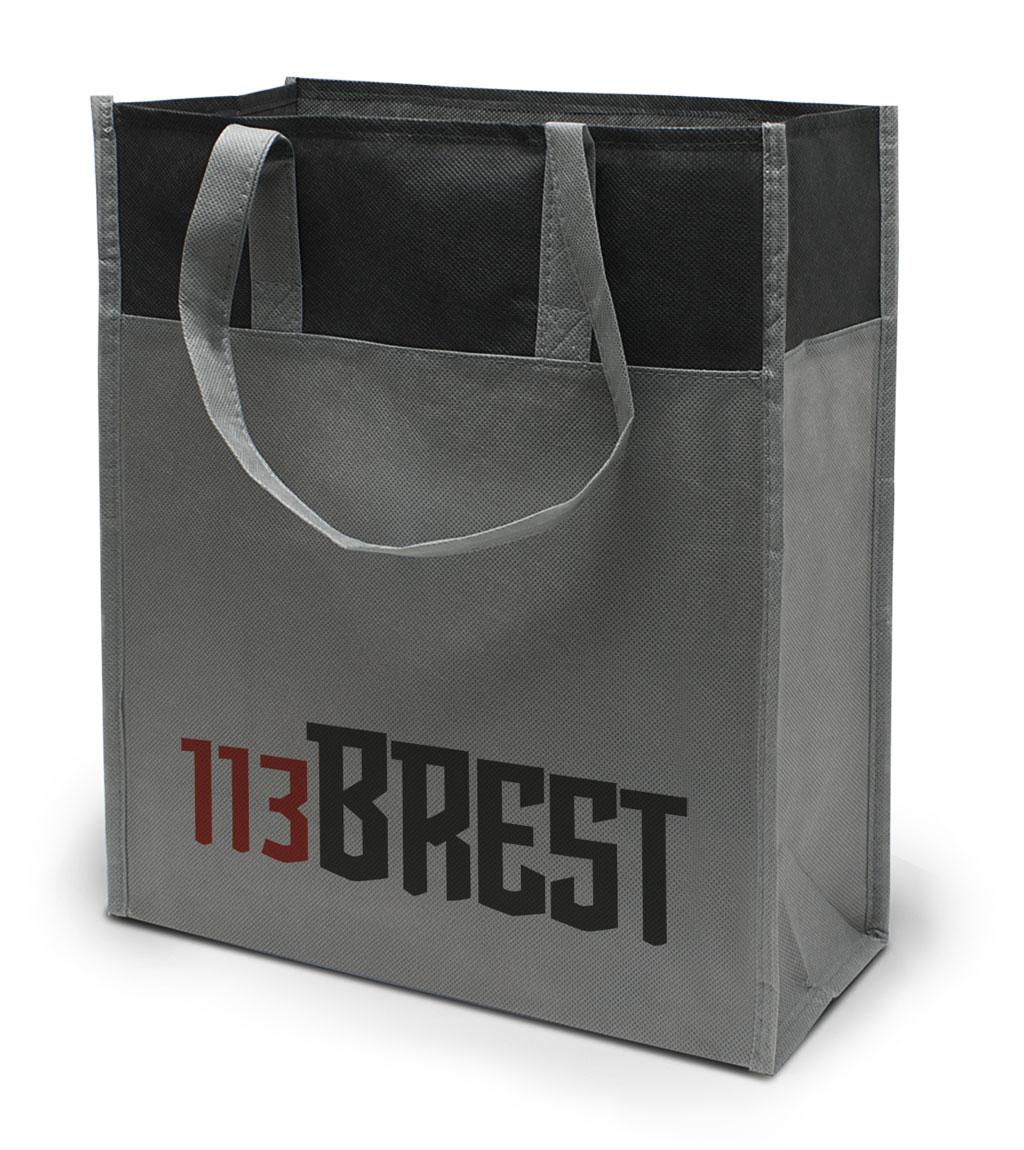 Non-Woven Tasche Brest in grau / schwarz
