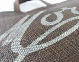Non-Woven Taschen mit Flexodruck Detailansicht