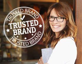 Vertrauensvolle Marke